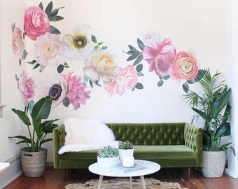 Pastel Garden Flowers- Wall Décor
