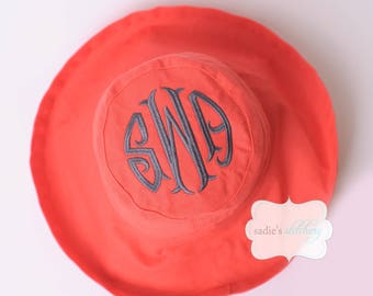 Canvas Monogrammed Sun Hat