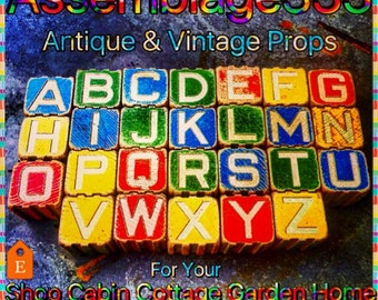 Alphabet Blocks / Toy Blocks / Wooden Blocks / Instant Collection / Complete Alphabet