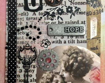 Hope And Grace AcEo Original Artist Trading Card Etsy  Mothers Day Mixed Media ACEO Alteredhead On Etsy ATC Original Handmade Design On Etsy
