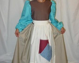 Handmade Modest Halloween Storytime Costume -Orphan Cinderella- Child Sizes