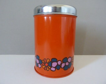 Metal storage tin by Brabantia flower power