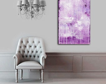 Abstract Painting 24x36 lavender modern painting