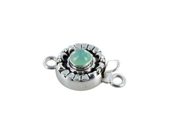 CHRYSOPRASE CLASP Sterling Moon Petal Design 6mm NewWorldGems