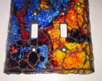 Ink and glass switch plate cover