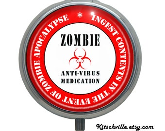 Funny Zombie Apocalypse Medication Pill Case