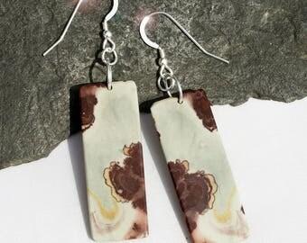 Tumbleweed  - Chohua Jasper Sterling Silver Earrings