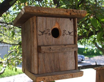 Reclaimed Wood Bird House  Handmade from Vintage Barn wood.  Barns were approximately 200 years old.