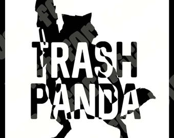 Trash Panda Rocket Racoon SVG Cut File | DXF PDF Guardians of the Galaxy Vol 2 Inspired