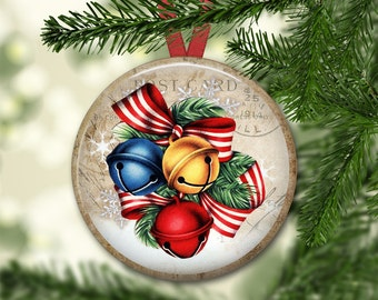 Christmas decorations for tree - old world Christmas ornaments - Christmas bell ornaments for tree - holiday magnet for the kitchen- MA-1345