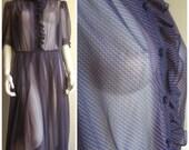 op art sheer dress,70s vintage