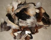 SALE Fur remnants assorted furs and sizes 1 pound 6 oz
