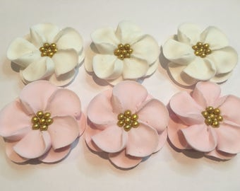 Reserved for Colleen sugar flowers lot of 100 Royal Icing Flowers for Cake Decorating