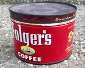 Vintage Folger's Metal Coffee Can