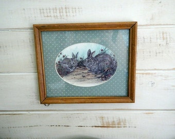 Framed Bunny Rabbit Print - House Of Lloyd Bunny Picture