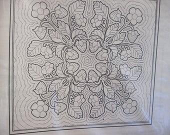 Mary's Treasures Hawaiian Quilt Pattern Strawberry
