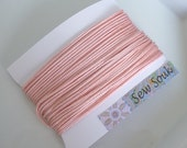 Moroccan Soutache or cord, FINE, 2mm, pale pink art silk 10 metres