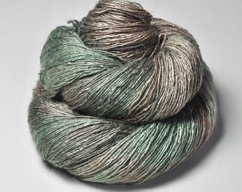 Camouflaged easter egg OOAK - Tussah Silk Lace Yarn