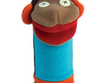 Cate and Levi Handmade Softy Monkey Hand Puppet (100% USA Polar Fleece)