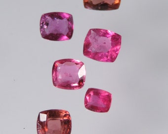 5.2 cts hot pink tourmaline faceted mixed cushion cut lot afghanistan