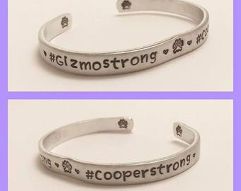 Gizmo and Cooper Bracelet, #Gizmostrong, #Cooperstrong, Gizmo's Frens,