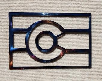 "Colorado State Flag Metal Art - 16"""