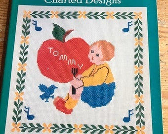 1987 Mother Goose charted Designs can work in needlepoint cross stitch latch hook or whatever