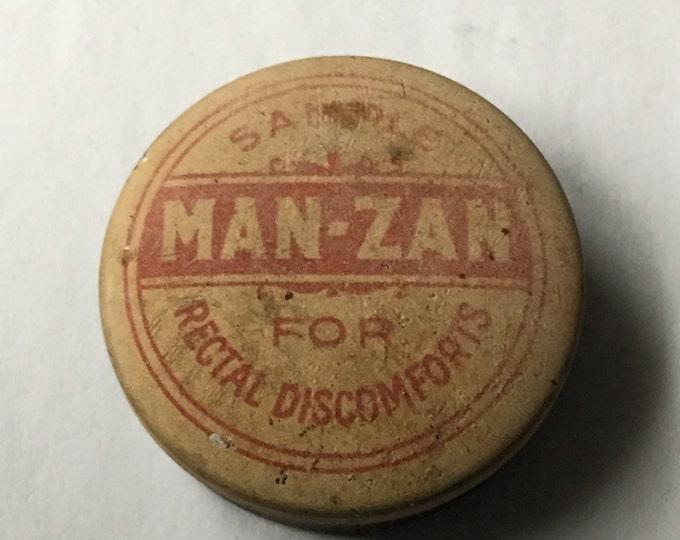 Man-Zan for Rectal Discomforts Sample Tin