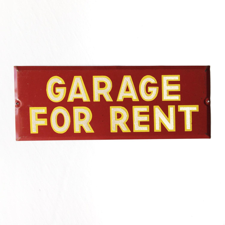 Garages For Rent: Vintage Garage For Rent Sign