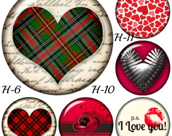 Heart snap charms for Ginger Snaps Jewelry plus all brands of 18-20 snap jewelry. Gift for her, Valentines Day gift or just Happy Everything