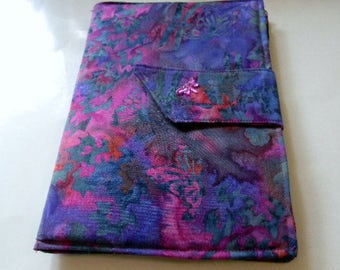 Raspberry and Purple Butterflies and Dragonflies Batik Kindle Fire/Kindle Keyboard Case