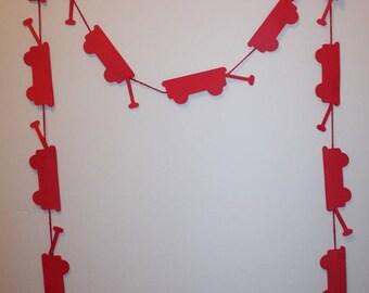 Little Red Wagon Die Cut - Paper Banner Garland