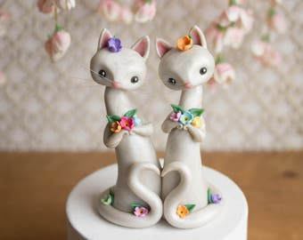 Cat Brides - Cat Wedding Cake Topper by Bonjour Poupette