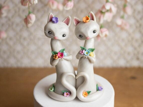 Cat Brides - Cat Wedding Cake Topper by Bonjour Poupette