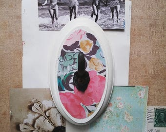 Floral Wall Hook,Cottage Chic Wall Hanger, Rustic Key Hook, Boho Jewelry Organizer, Feminine Home Decor