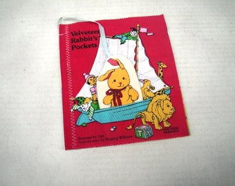 1984 Velveteen Rabbit's Pockets Stuffed Toy Childrens Cloth Book Tien Margery Williams