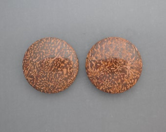 Agatized Stromatolite Fossil Cabochon Pair
