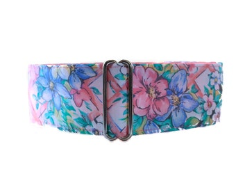 Easter Martingale Collar, Floral Martingale Collar, Martingale Collar Greyhound, Easter Dog Collar, Floral Dog Collar, Pastel Martingale