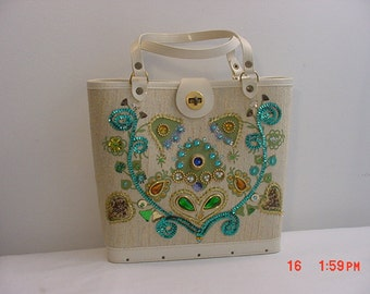 Vintage Glam Sequined & Jeweled Purse   16 - 599