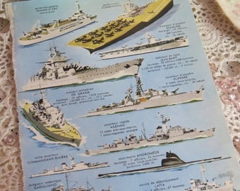 Going Out Of Business Reference-Audubon-Book Plates-French-Battle Ships-Navy-Sea