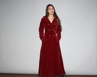 40% Limited time SALE  - Vintage 1960s Merlot Burgundy Velvet Formal Evening  Coat  - Vintage 60s Velvet Jacket  - Vintage 1960s Burgundy Ve