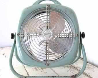 Vintage Duck Egg Blue Lasko Fan