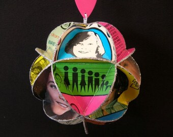 Partridge Family Album Cover Ornament Made Of Record Jackets - David Cassidy