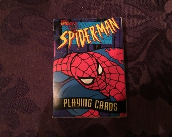 Spider Man Vintage 1994 Playing Cards, Marvel, near mint, Cool Graphics, Cat Not Included