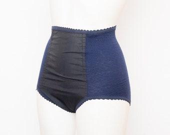 Navy blue high waist panties bombshell dead stock Vintage