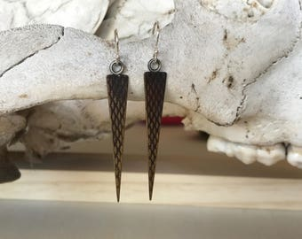 Textured Geometric Dangle Earrings