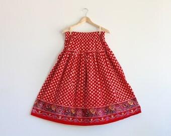 BETHA - vibrant pattern skirt