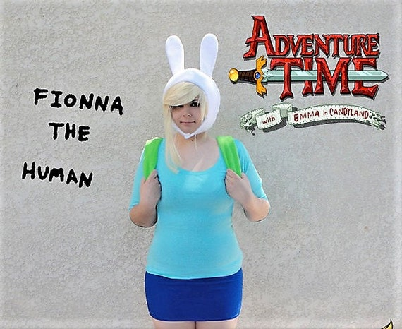 Adventure Time Hat, Fionna Cosplay Hat, Valentine Gifts for her, Fionna Costume, Gifts under 35, Comic Con, Fionna The Human, Handmade Hat