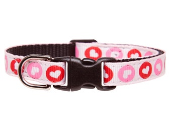"Cat Collar - ""The Love Story"" - Heart Print"