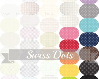 swiss dots fat eighth bundle basics by Riley Blake - great blender pack - 37 pieces